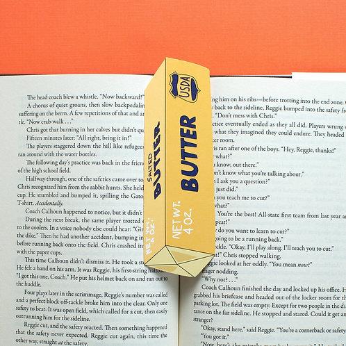 Stick of Butter Bookmark (it's die cut!)