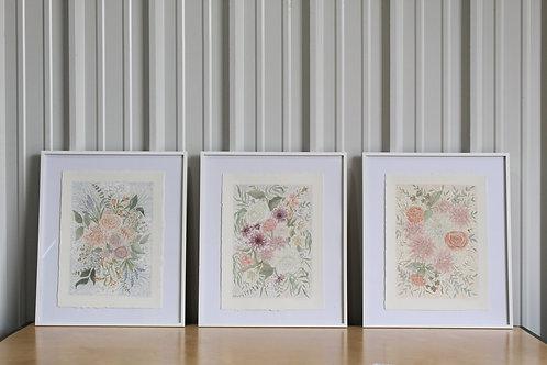 Bouquet Watercolor Print