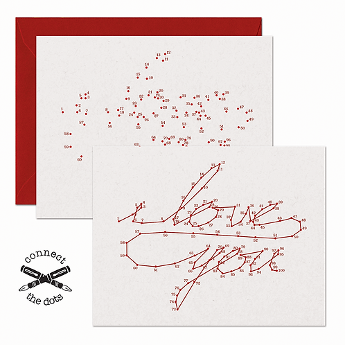 Connect the Dots - I Love You Card