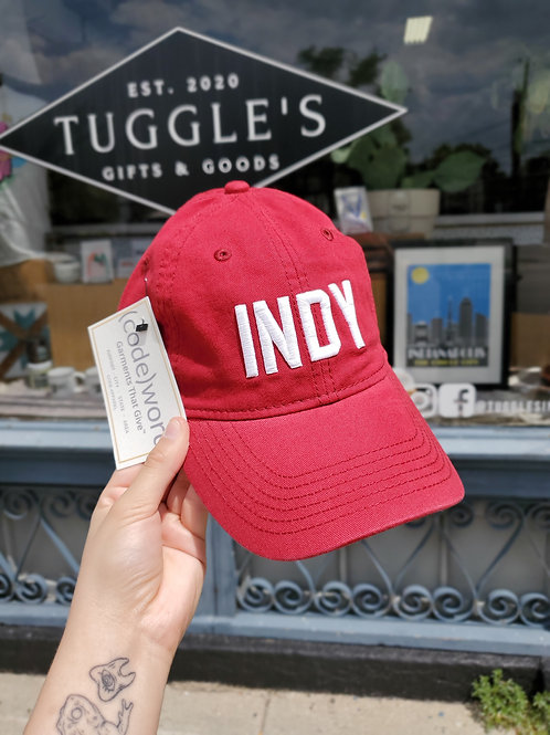 INDY HAT (red)