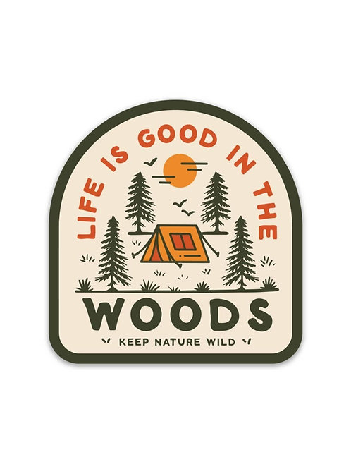 Good in the Woods   Sticker
