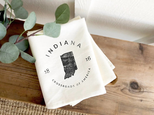 Indiana Motto Tea Towel
