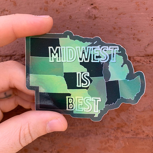 Midwest is Best Sticker