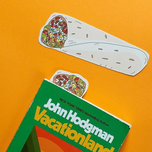 Burrito Bookmark (it's die cut!)