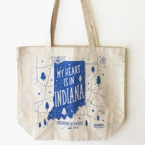 My Heart is in Indiana Tote