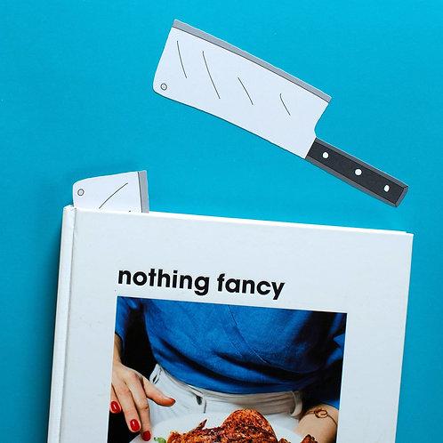 Cleaver Bookmark (it's die cut!)
