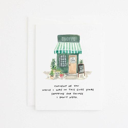 Cute Shop Card