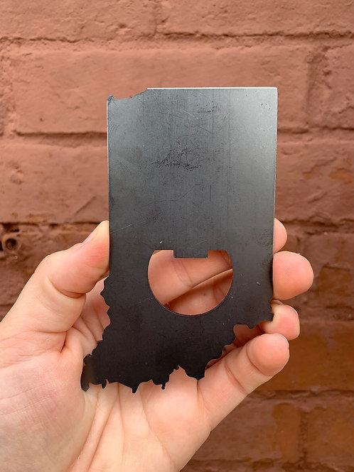 Indiana Beer Opener Magnet - Metal
