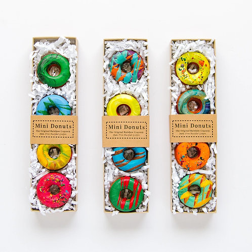 Mini Donut Original Rainbow Crayon® Boxed Set of 4