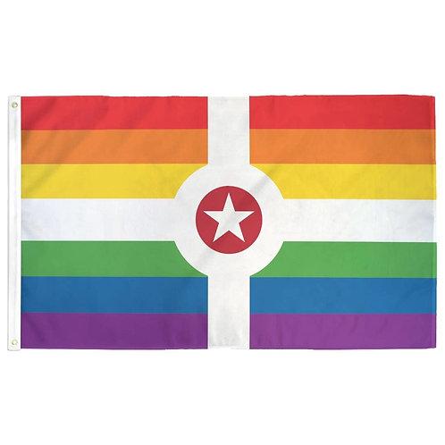 Rainbow Indianapolis Flag