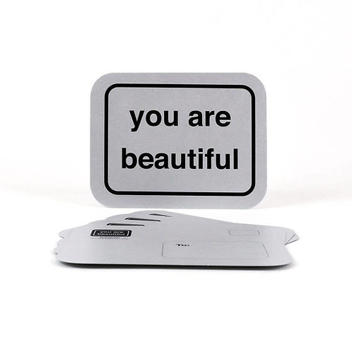 Silver Postcards - You Are Beautiful
