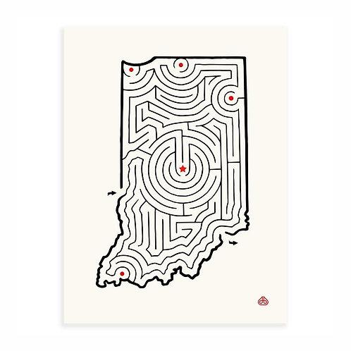 """8'' x 10"""" State Maze Prints"""