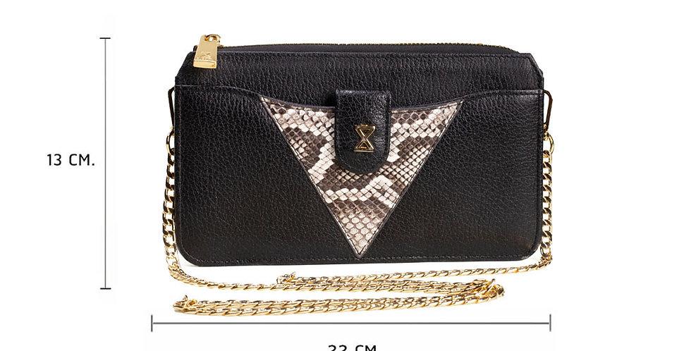 Lita Crossbody Bag x Python - Sexy Black