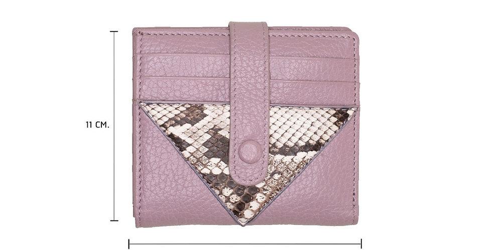 Lita Mini Wallet x Python - Lavender Pink