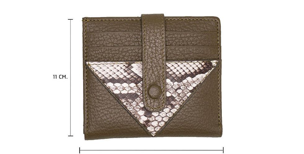 Lita Mini Wallet x Python - Olive Green