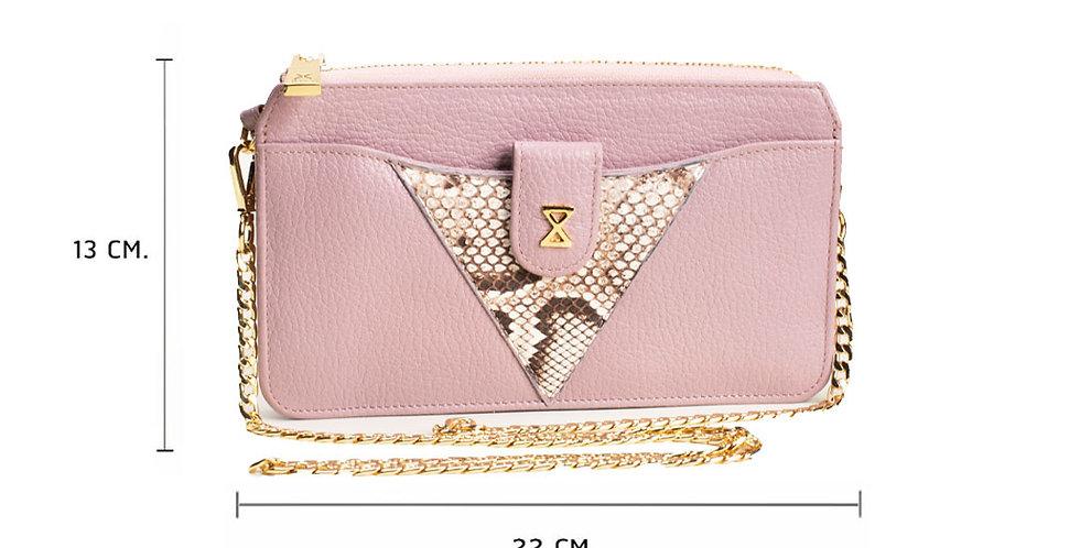 Lita Crossbody Bag x Python - Lavender Pink