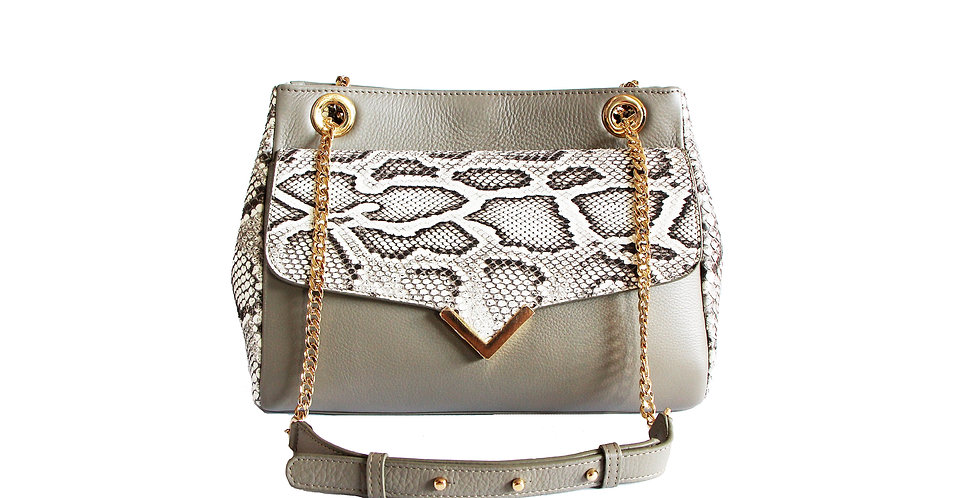 Victoria - Grey with Exotic Python