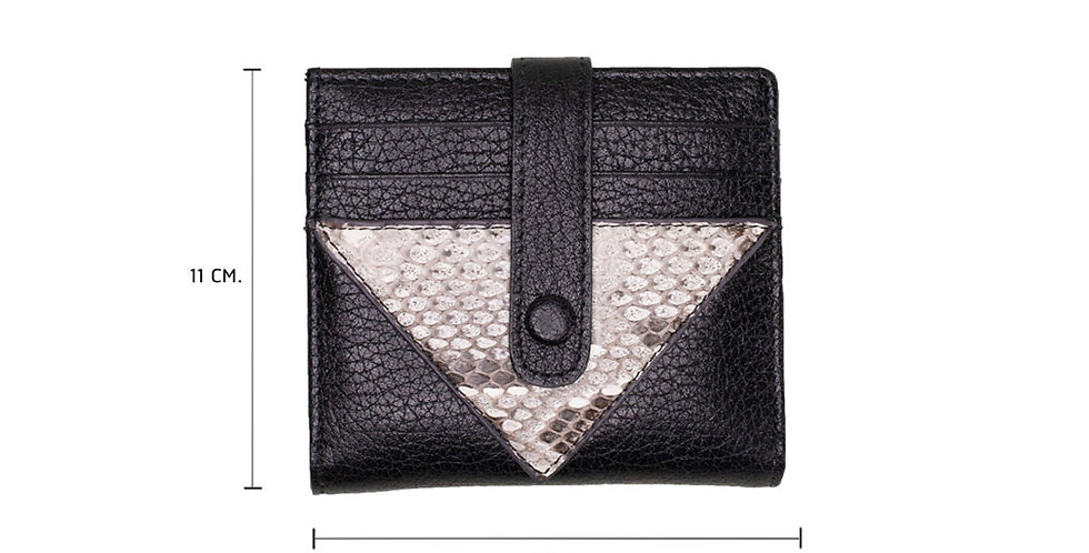 Lita Mini Wallet x Python - Sexy Black