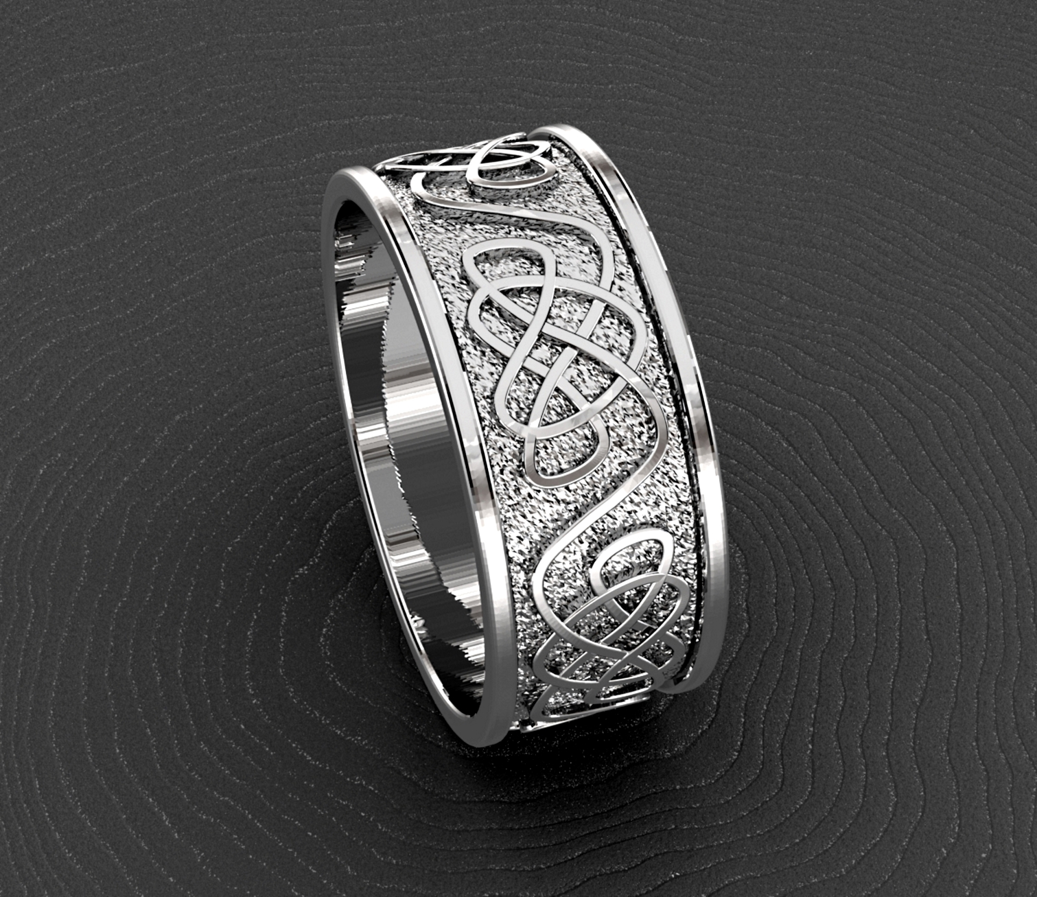 White gold celtic knot.