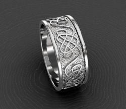 White gold celtic knot.