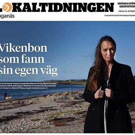 Intervju i Lokaltidningen Höganäs 24 okt 2020