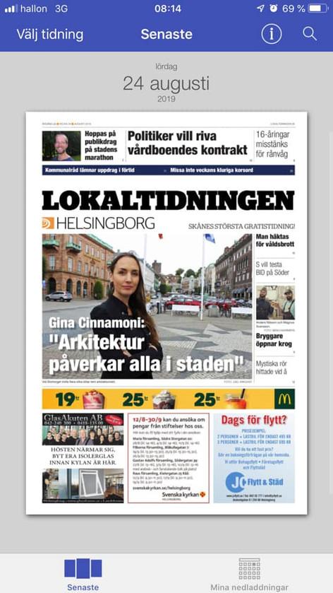 24 aug 2019 Lokaltidningen Helsingborg
