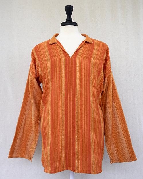 Deep Orange Sunflower Arming Shirt