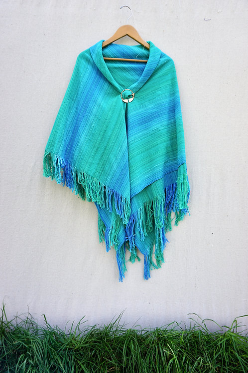 Turquoise Delight Square Shawl