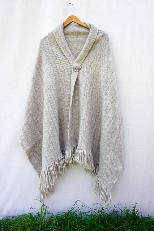 Gainsboro Home Grown Wool Shawl