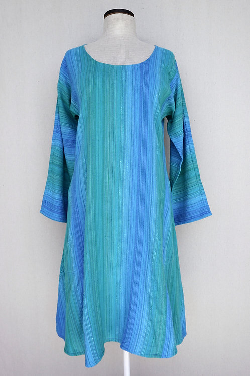 Turquoise Delight   Tunic, Scoop Neck