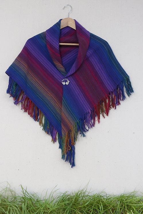 Black Rainbow | Mini Square Shawl