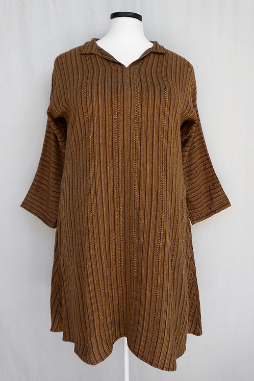 Brown Butterfly | Tunic, Collared