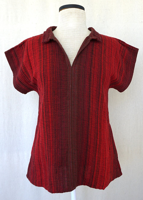 Cardinal Collared Shirt with Pockets
