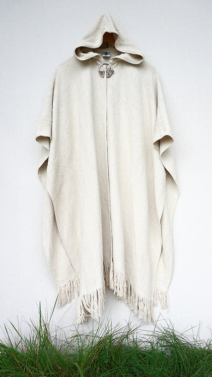 Raw Silk Fringed Ruana