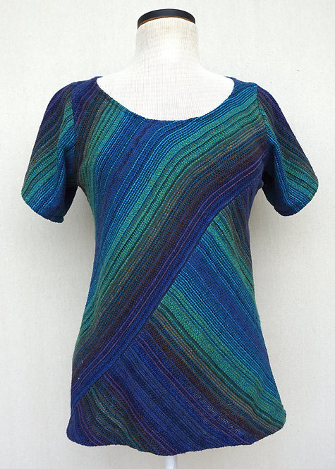 Peacock Chenille | Bias Cut Shirt