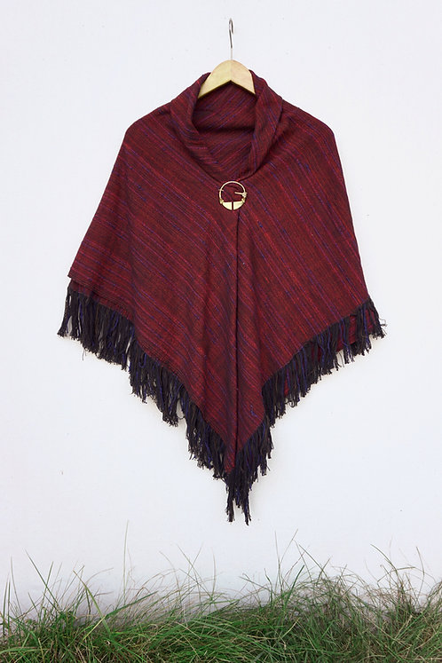 Scarlet Tanager | Square Shawl