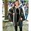 grey agate handmade woven cotton cloak, renaissance festival