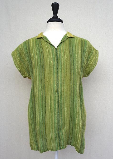 Green Sunflower   Collared Shirt