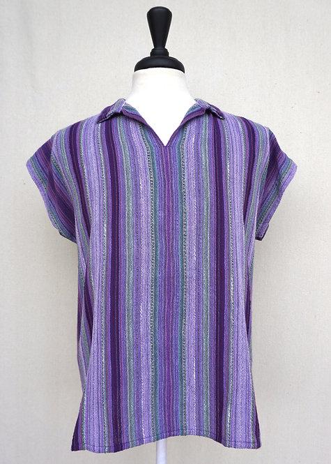 Lavender Fields Collared Shirt