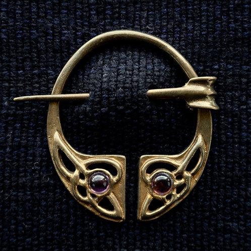 Irish Knot Brooch, Amethyst