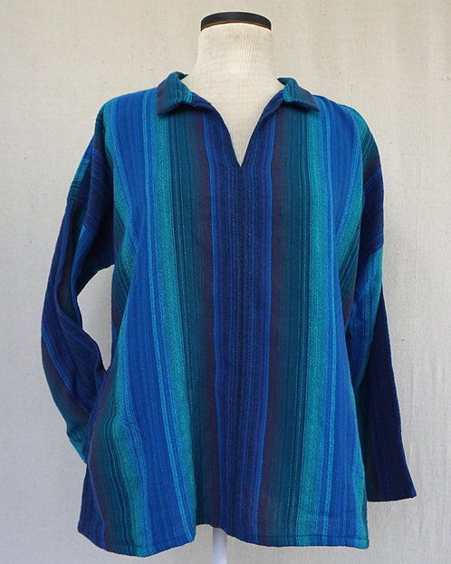 Blue Peacock | Arming Shirt with Pockets