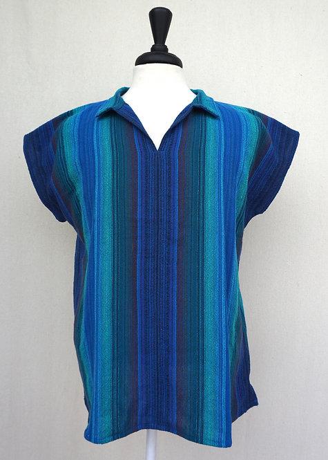 Blue Peacock Collared Shirt