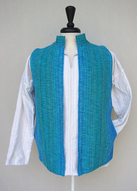 Turquoise Delight Collared Vest