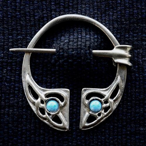 Irish Knot Brooch, Demin Lapis Lazuli