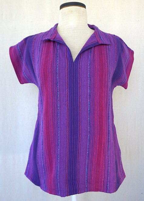 Purple Passion | Collared Shirt with Pockets