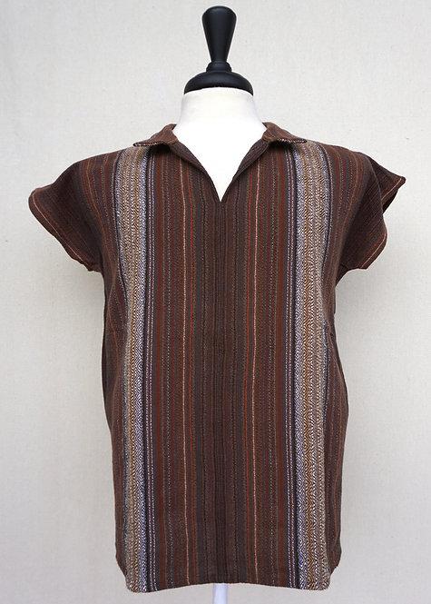 Brown Agate Collared Shirt