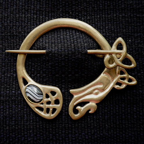 Kells Dragon Brooch, Sardonyx