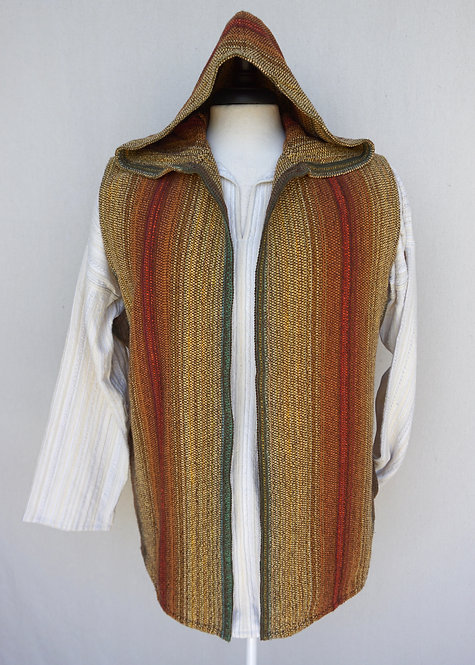 Toasted Sunflower Chenille | Hooded Vest