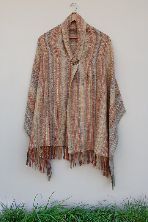 Cream Stone Rectangle Shawl