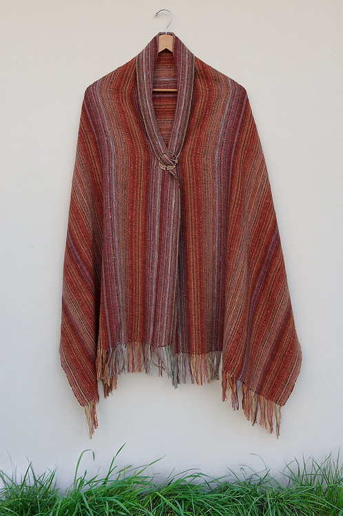 Red Stone Rectangle Shawl